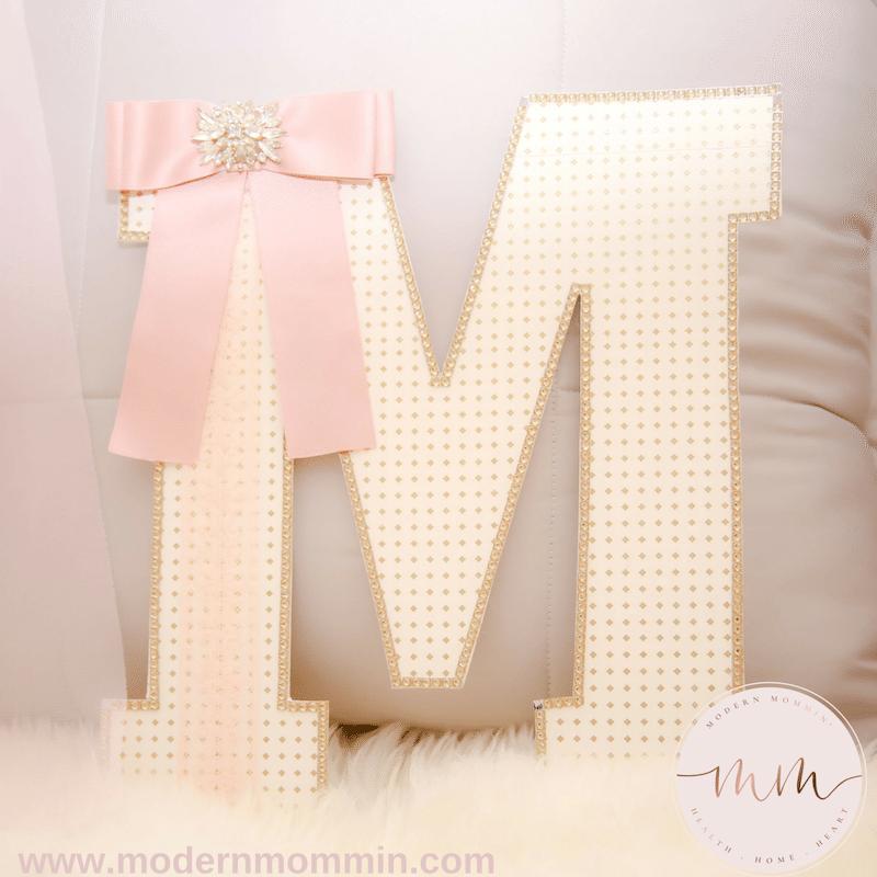 DIY Decorative Nursery Letter_M